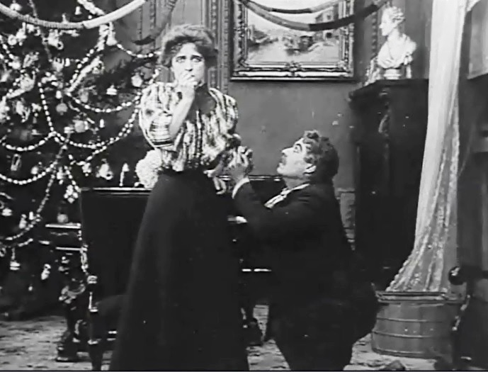 Henry-Walthall-and-Marion-Leonard-in-A-trap-for-Santa-1909-DW-Griffith-and-Billy-Bitzer-08