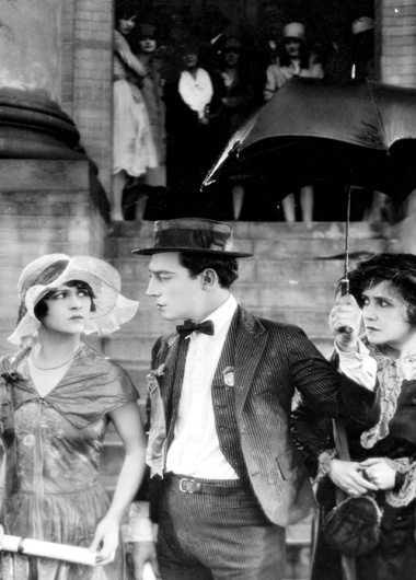 Ann-Cornwall-and-Buster-Keaton-and-Florence-Turner-in-poster-art-for-College-1927