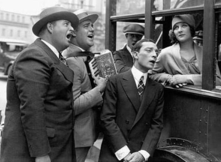 Marceline-Day-and-Buster-Keaton-and-Edward-Sedgwick-The-Cameraman-1928