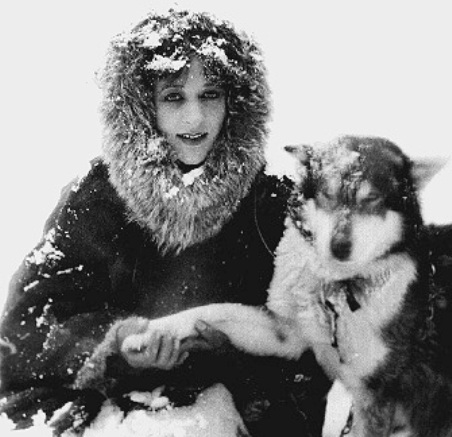 Nell-Shipman-and-her-sled-dog-Tex