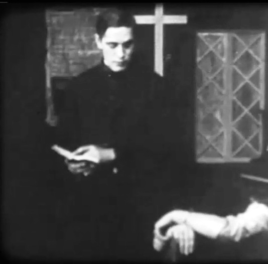 Arthur V Johnson in A Strange Meeting 1909 director DW Griffith cinematographer Billy Bitzer 00
