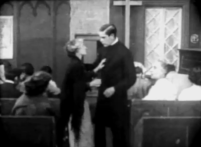 Kate Bruce and Arthur V Johnson in A Strange Meeting 1909 01
