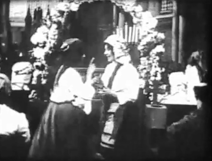 Florence Lawrence in At the Altar 1909 director DW Griffith 05