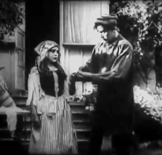 Arthur V Johnson and Mary Pickford in Love among the Roses 1910 00