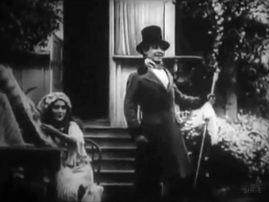 Henry Walthall and Mary Pickford in Love among the Roses 1910 03