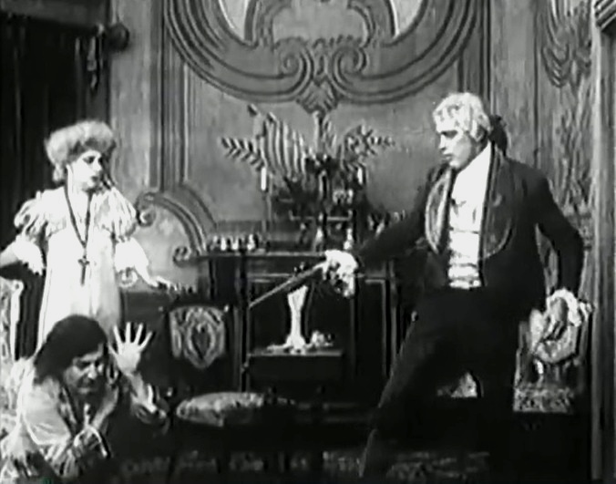 Arthur V Johnson and Marion Leonard and Frank Powell in Nursing a Viper 1909 director DW Griffith cinematographer Billy Bitzer 21