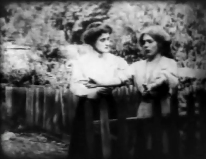 Kate Bruce and Mary Pickford in The Broken Locket 1909 director DW Griffith cinematographer Billy Bitzer 03
