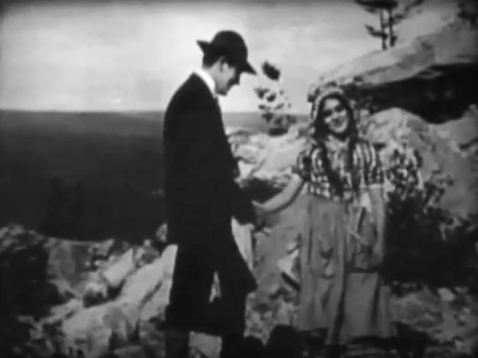 Arthur V Johnson and Mary Pickford in The Mountaineers Honor 1909 5