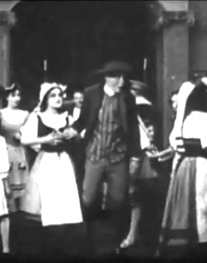 Arthur V Johnson in The Violin Maker of Cremona 1909 director DW Griffith cinematographer Billy Bitzer 00