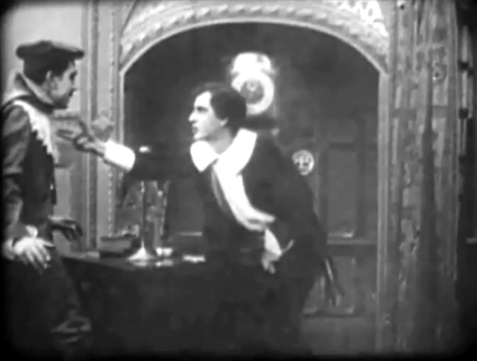 Owen Moore and David Miles in The Violin Maker of Cremona 1909 director DW Griffith cinematographer Billy Bitzer 03