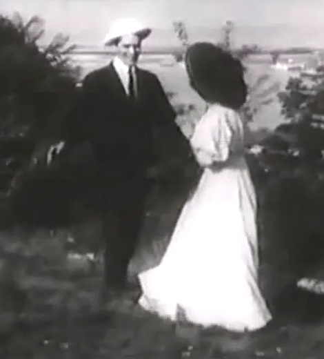 Arthur V Johnson in Where Breakers Roar 1908 director DW Griffith 00
