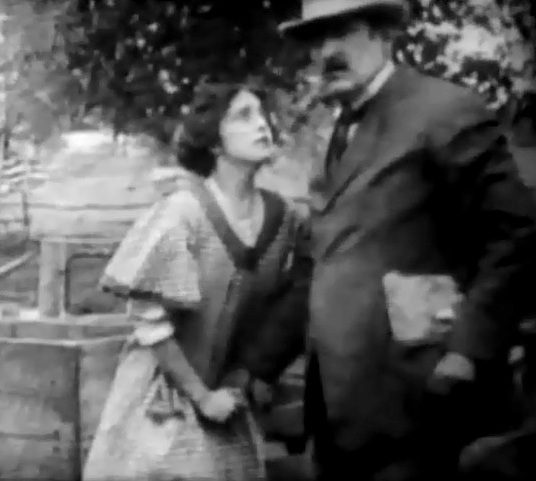 Dorothy West and George Nichols in A Child of the Ghetto 1910 director DW Griffith 01