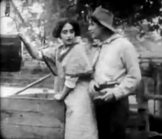 Dorothy West and Henry Walthall in A Child of the Ghetto 1910 director DW Griffith 00
