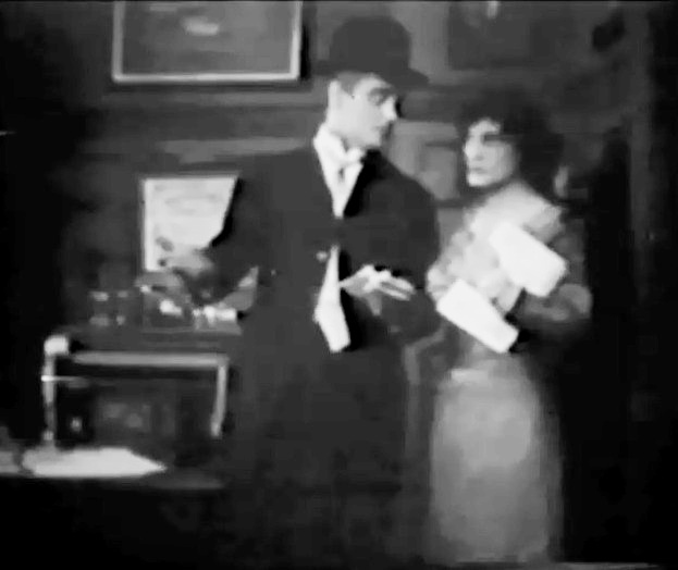Wilfred Lucas and Claire McDowell in A Woman Scorned 1911 director DW Griffith cinematographer Billy Bitzer 01