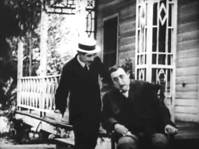 Henry Walthall and George Nichols in In Lifes Cycle 1910