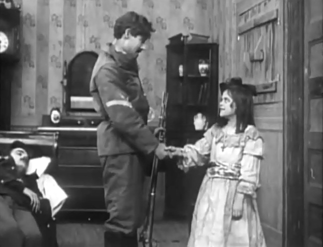 Gladys Egan and Henry Walthall in a scene from In the Border States 1910 director DW Griffith cinematographer Billy Bitzer 13