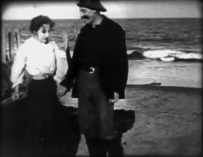 Marion Leonard and James Kirkwood in Lines of White on a Sullen Sea 1909 02