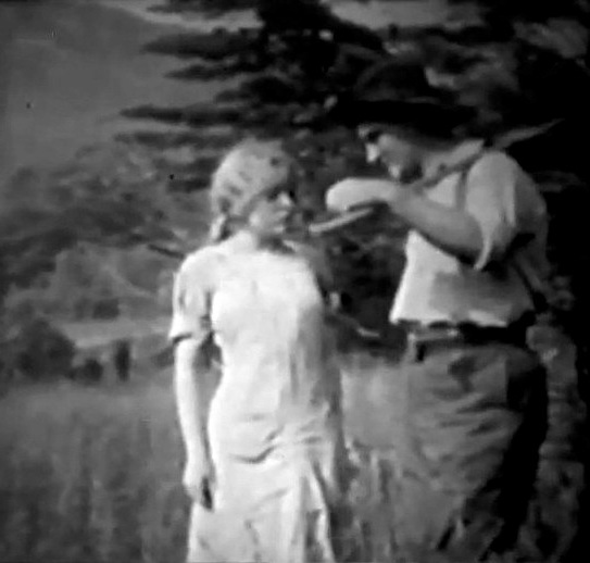 Blanche Sweet and Wilfred Lucas in Love in the Hills 1911 director DW Griffith cinematographer Billy Bitzer 000