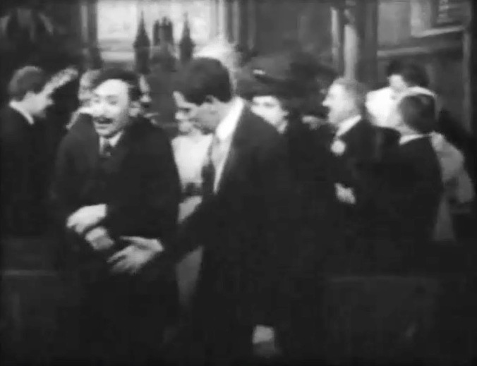 Mack Sennett and Arthur V Johnson in Lucky Jim director DW Griffith 6