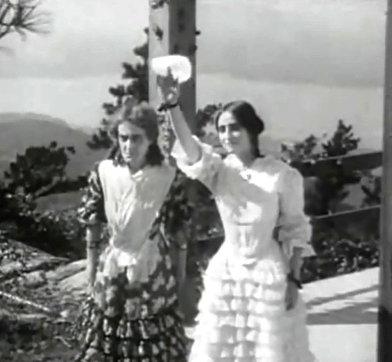 Kate Bruce and Dorothy West in The Fugitive 1910 00