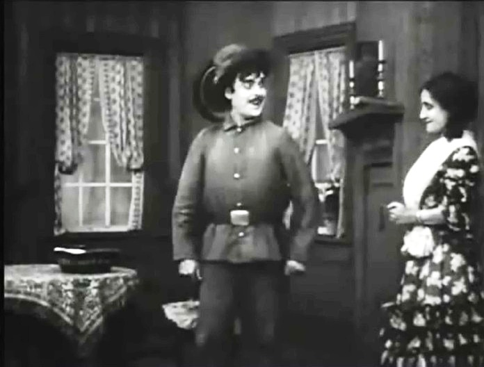Kate Bruce and Edward Dillon in The Fugitive 1910 01
