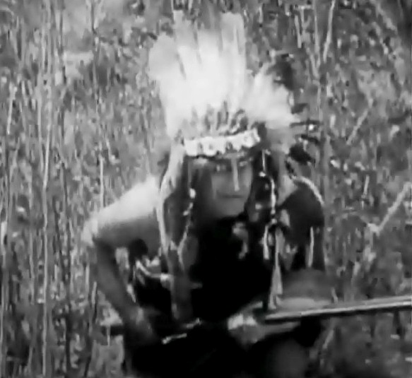 Wilfred Lucas in The Indian Brothers 1911 director DW Griffith cinematographer Billy Bitzer 000