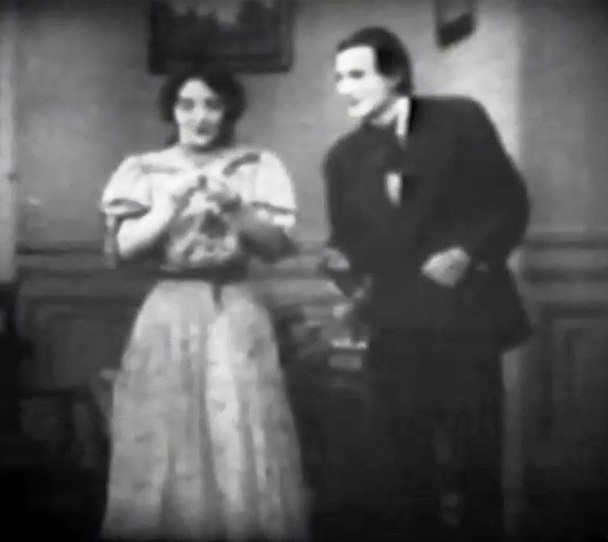 Stephanie Longfellow and Charles West in The Message of the Violin 1910 Billy Bitzer