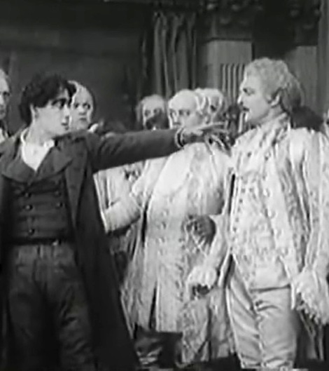 Henry Walthall and Florence Barker and Francis Grandon in The Oath and the Man 1910 director DW Griffith cinematographer Billy Bitzer 00