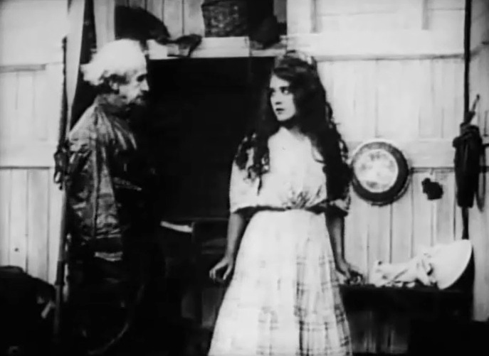 Mary Pickford and W Chrystie Miller in The Sorrows of the Unfaithful 1910 7