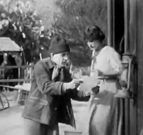 Harry Carey and Claire McDowell in The Wanderer 1913 cinematographer Billy Bitzer 00