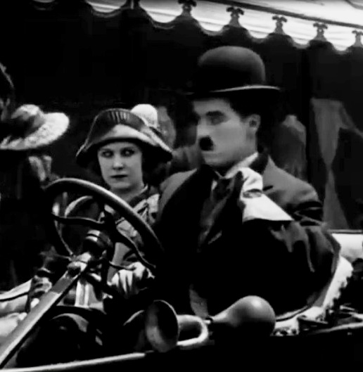 Edna Purviance and Charlie Chaplin in A Days Pleasure 1919 00