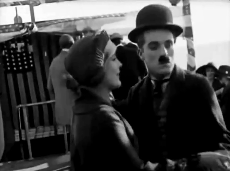 Edna Purviance and Charlie Chaplin in A Days Pleasure 1919 4