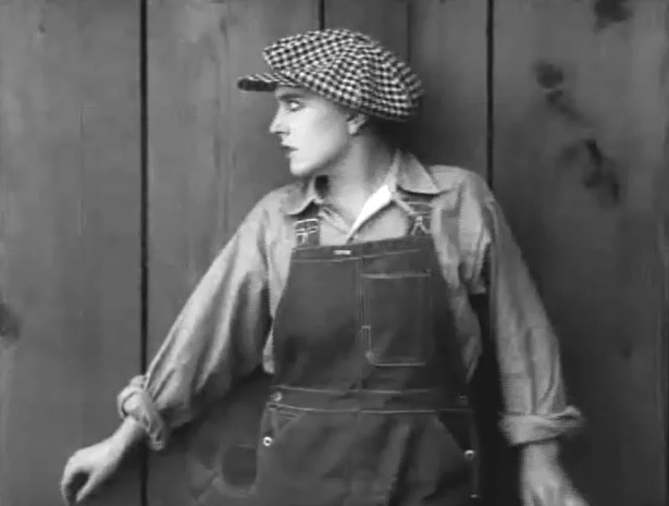 Edna Purviance in Behind the Screen 1916 20