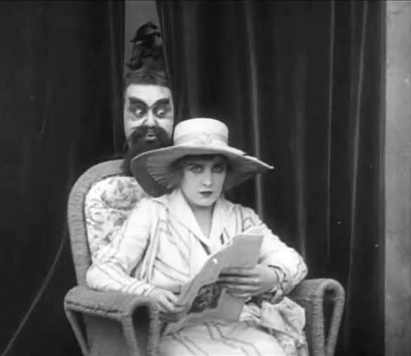Edna Purviance and Eric Campbell in The Cure 1917 8