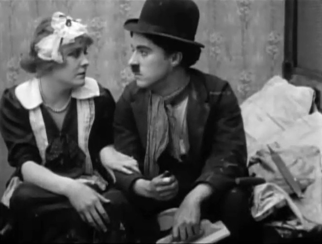 Edna Purviance and Charlie Chaplin in Work 1915 001