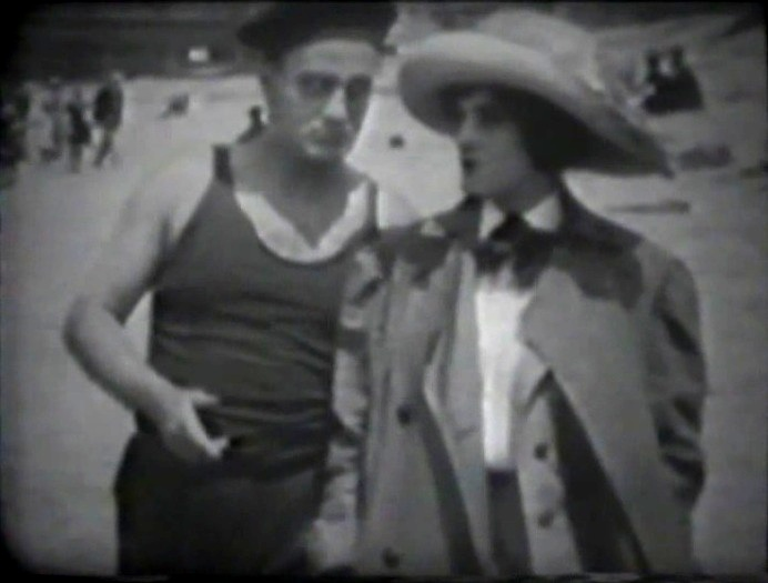 Wilfred Lucas and Claire McDowell in The Primal Call 1911 director DW Griffith cinematographer Billy Bitzer 12