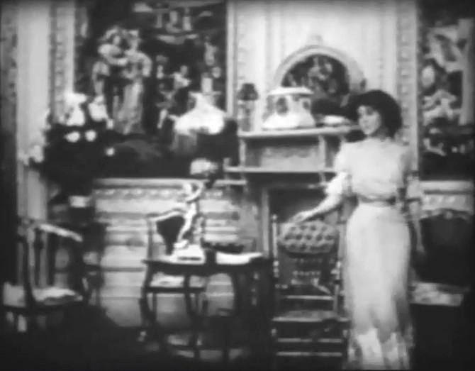 Florence Lawrence in Confidence 1909 director DW Griffith 10