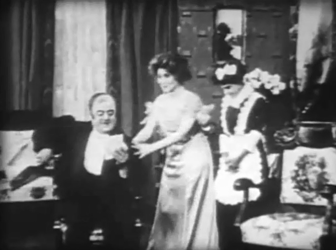 Florence Lawrence in The Joneses Have Amateur Theatricals 1909 director DW Griffith cinematographer Billy Bitzer 2