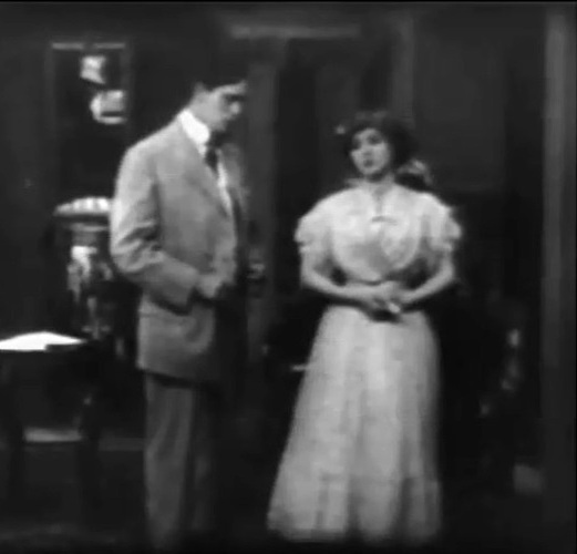 Florence Lawrence and Arthur V Johnson in The Way of Man 1909 director DW Griffith cinematographer Billy Bitzer 002