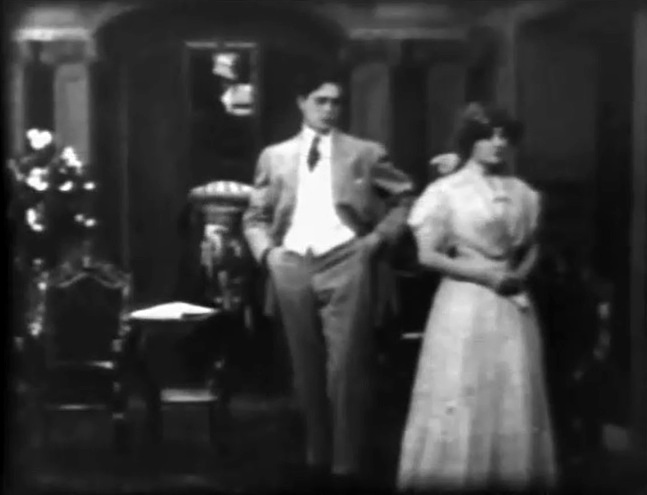 Florence Lawrence and Arthur V Johnson in The Way of Man 1909 director DW Griffith cinematographer Billy Bitzer 01bb