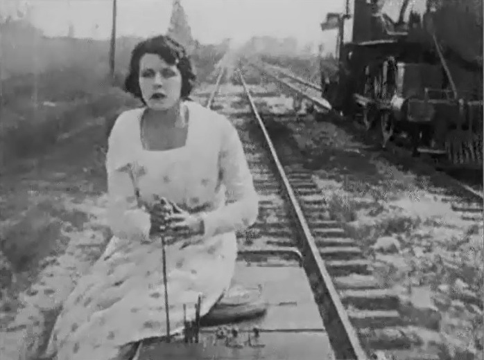 Helen Gibson in The Governors Special 1916 13