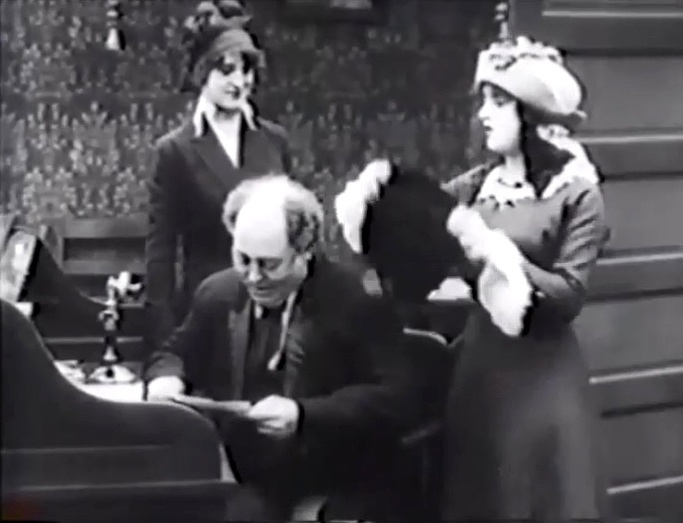 Helen Holmes and Nick Cogley and Mabel Normand in Hide and Seek 1913 01