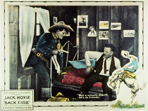 Jack Hoxie in Back Fire 1922 poster