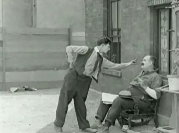 Joe Roberts and Buster Keaton in Neighbors 1922 20