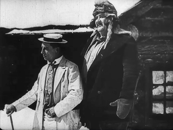 Buster Keaton and Joe Roberts in The Frozen North 1922 4