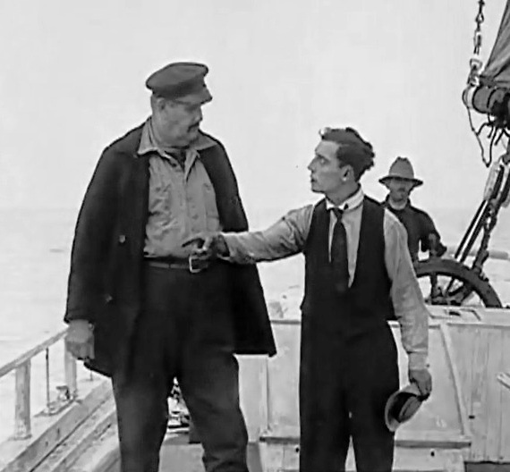Joe Roberts and Buster Keaton in The Love Nest 1922 07