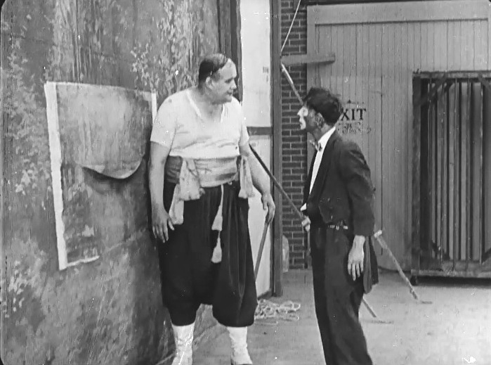 Buster Keaton and Joe Roberts in The Play House 1921 12