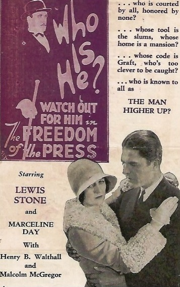 Marceline Day in Freedom of the Press 1928 poster 2a
