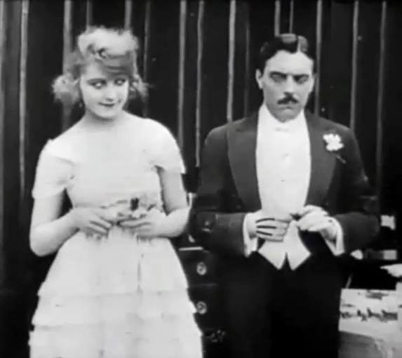 Martha Mansfield and Max Linder in Max in a Taxi 1917 00