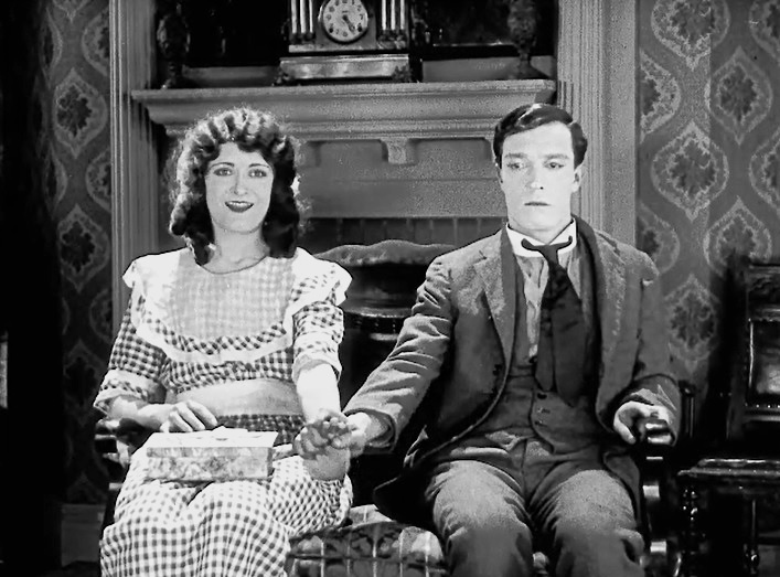 Kathryn McGuire and Buster Keaton in Sherlock Jr 1924 05